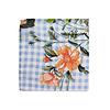 Pocket Square Clothing The Nadia Light Blue Floral Gingham Pocket Square