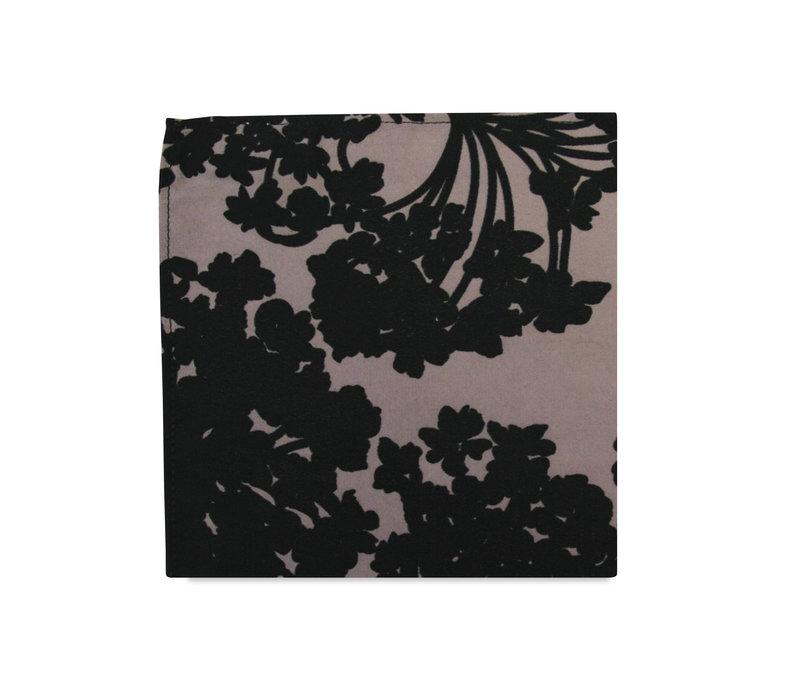 The Simona Mauve Floral Pocket Square