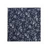 Pocket Square Clothing The Parker Blue Floral Merrowed Pocket Square