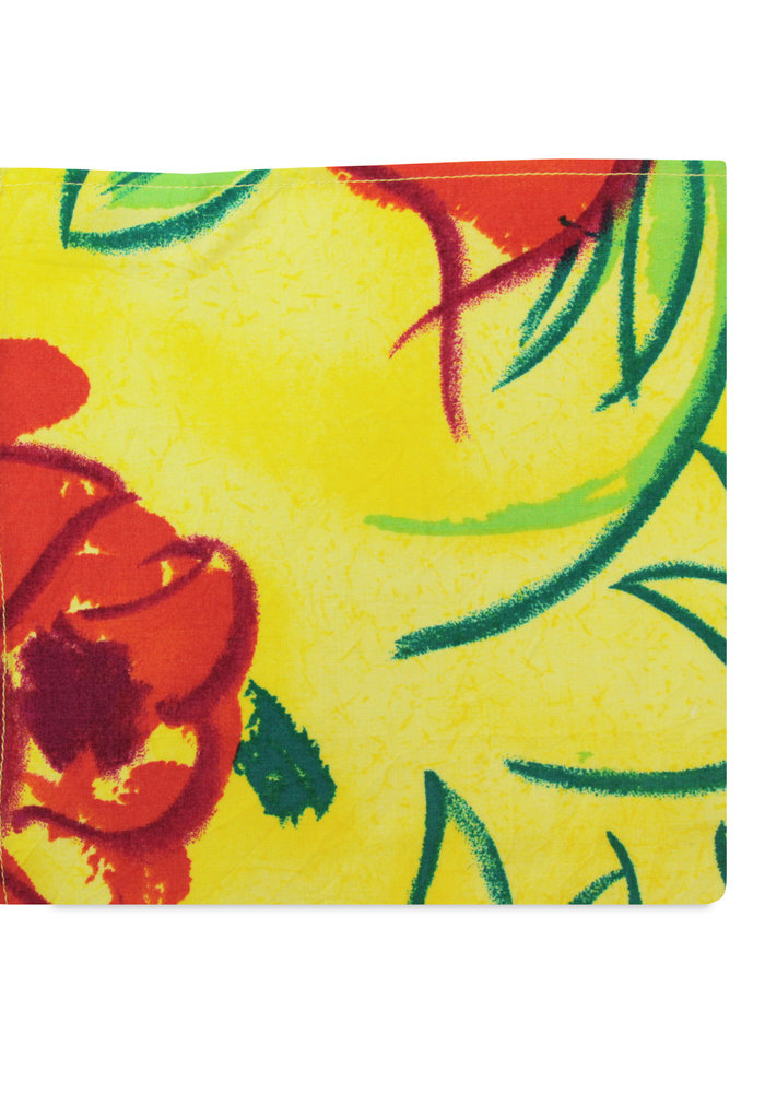 The Paige Yellow Floral Pocket Square