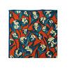 Pocket Square Clothing The Dawn Red and Teal Floral Pocket Square