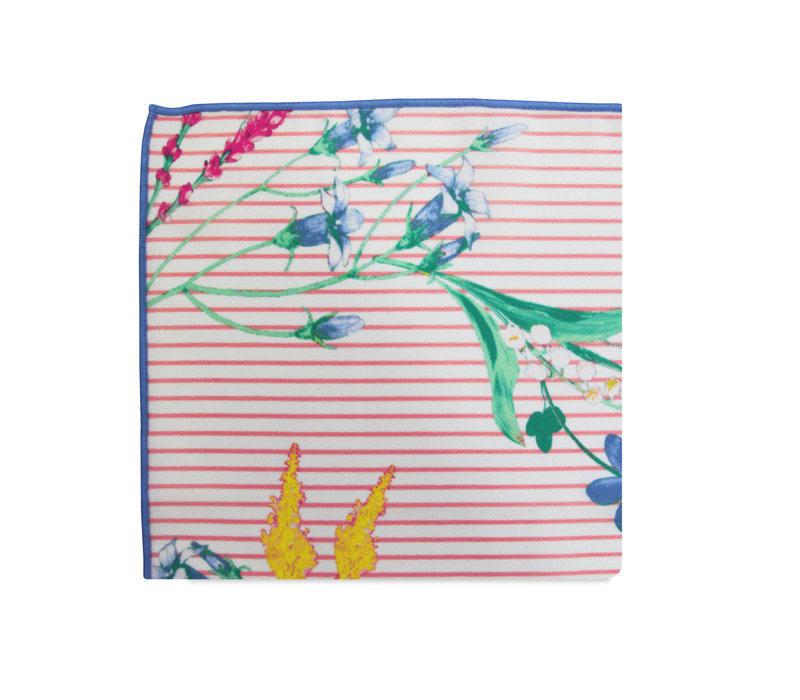 The Shannon Striped Floral Pocket Square