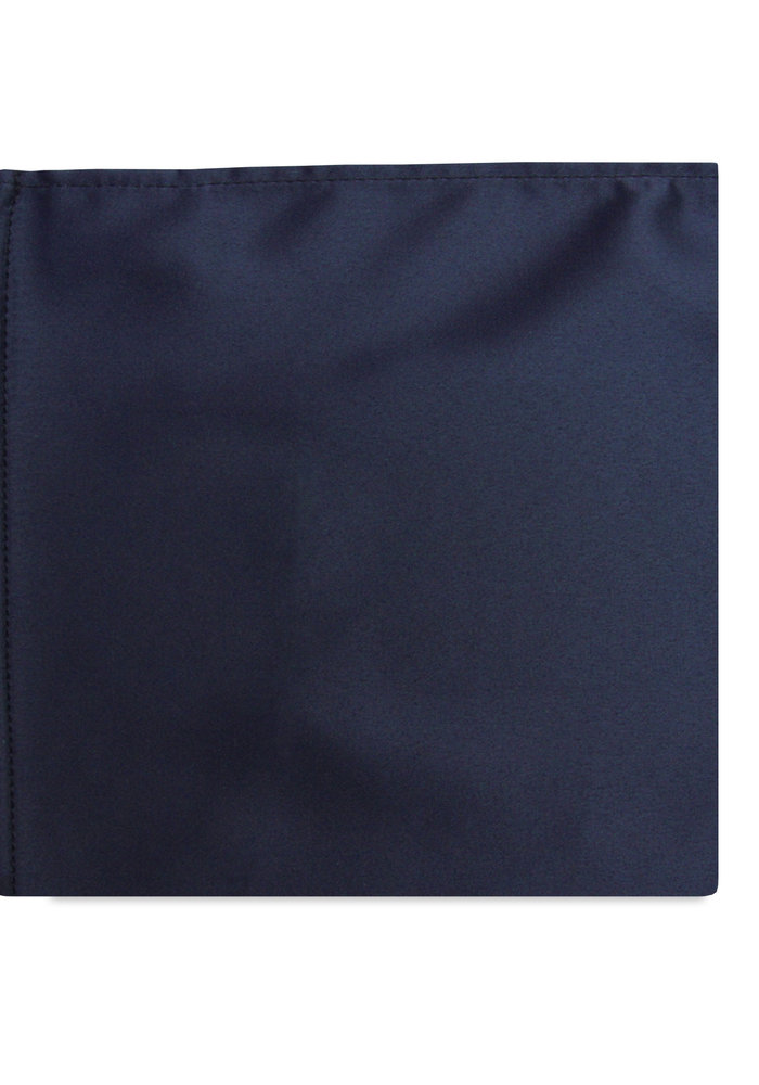 The Shay Navy Blue Silk Pocket Square