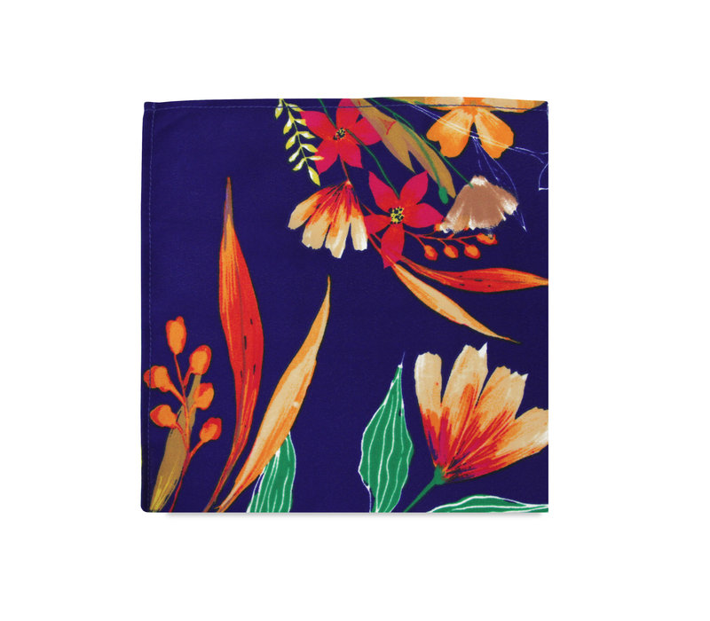 The Katie Blue Floral Pocket Square