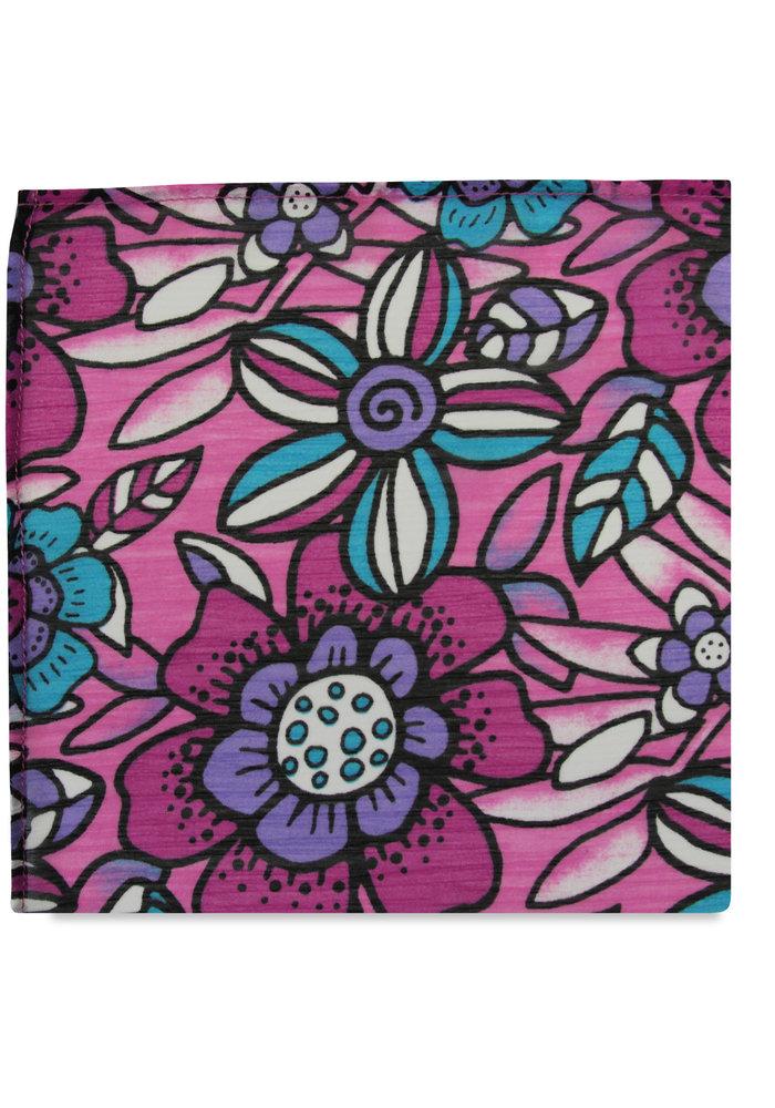 The Emma Purple Floral Pocket Square