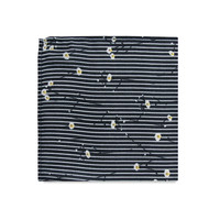 The Aurora Striped Floral Pocket Square