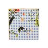 Pocket Square Clothing The Esma Light Blue Floral Gingham Pocket Square