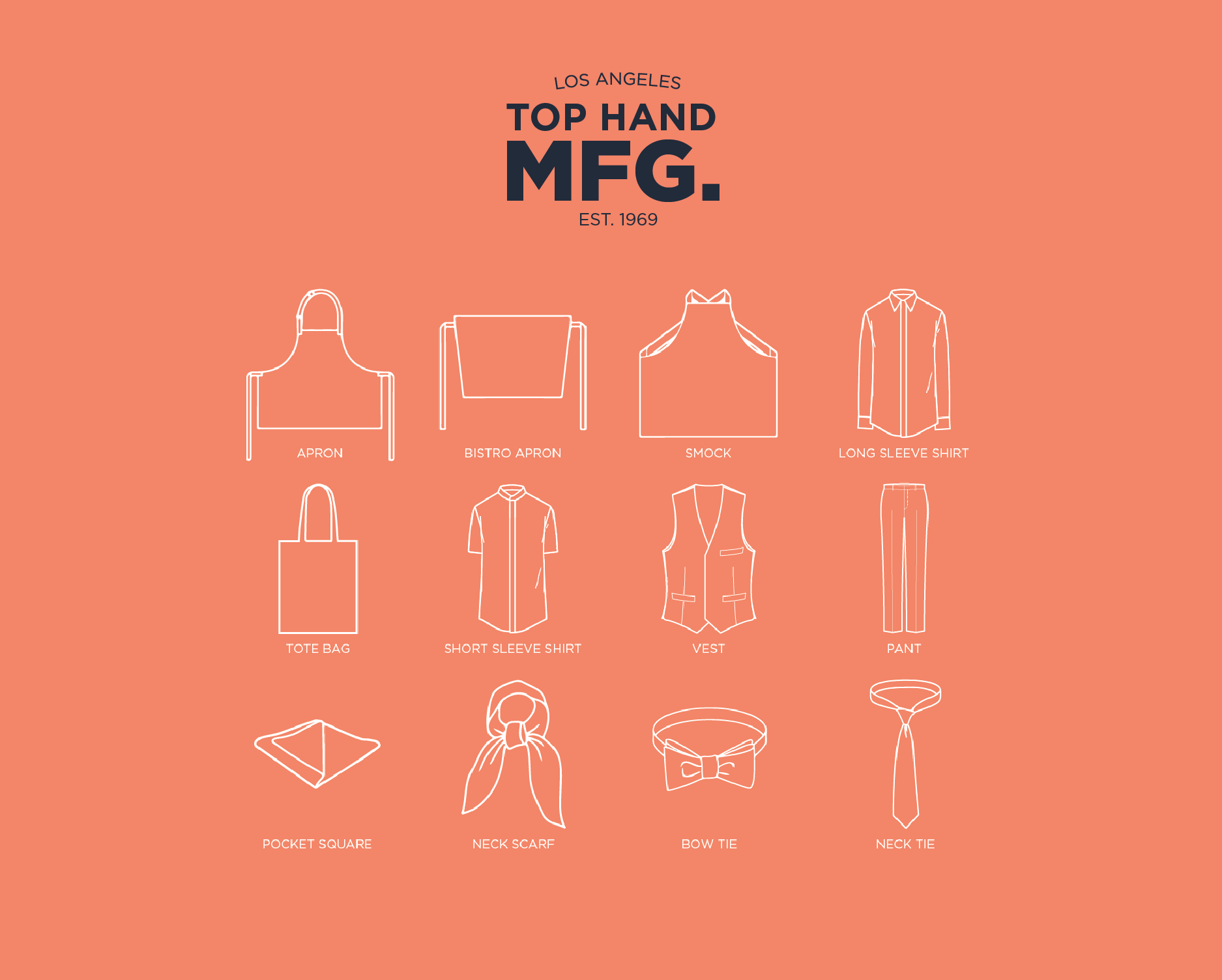 Los Angeles Tie Manufacturer - Top Hand Manufacturing - Pocket
