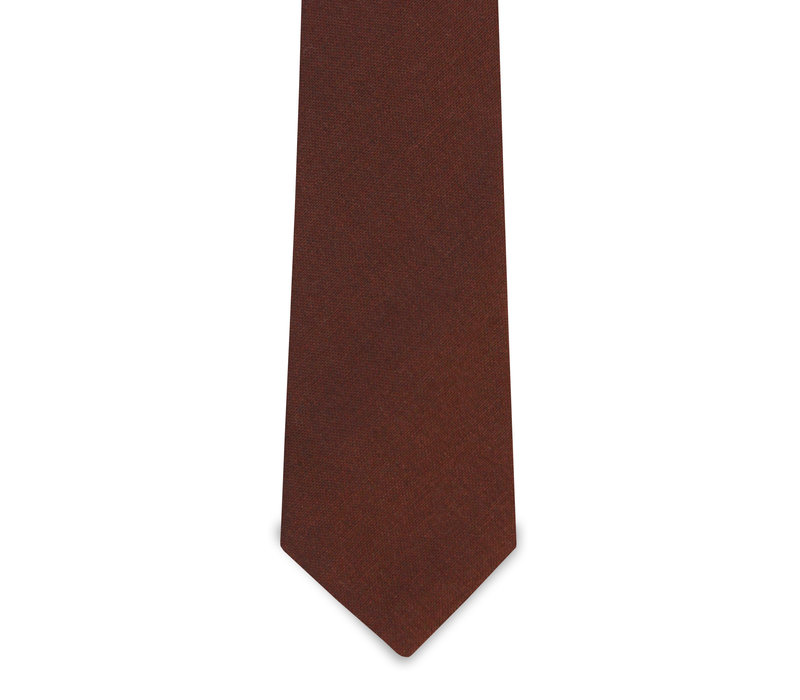The Mantle Brick Red Wool Tie