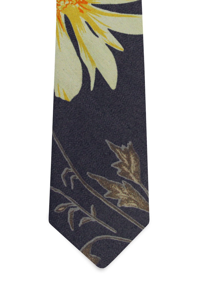 The Moora Denim Floral Tie