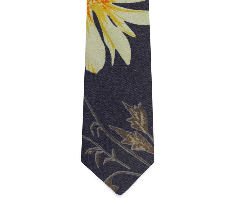 The Moora Denim Floral Tie