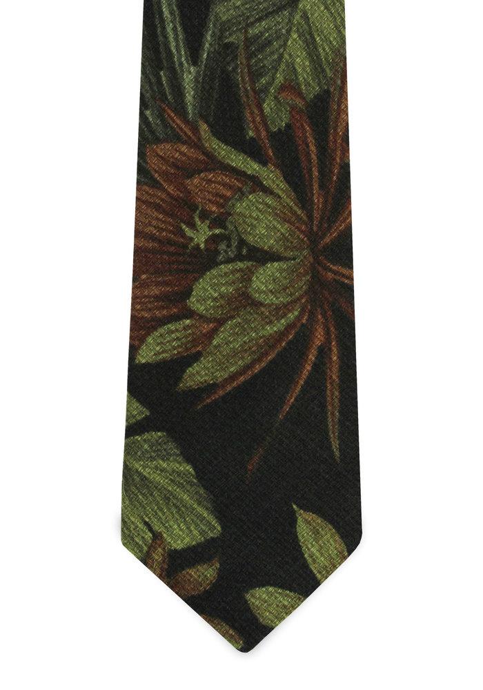 The Kini Black Tropical Tie