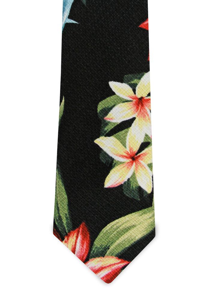 The Kaleo Black Tropical Tie