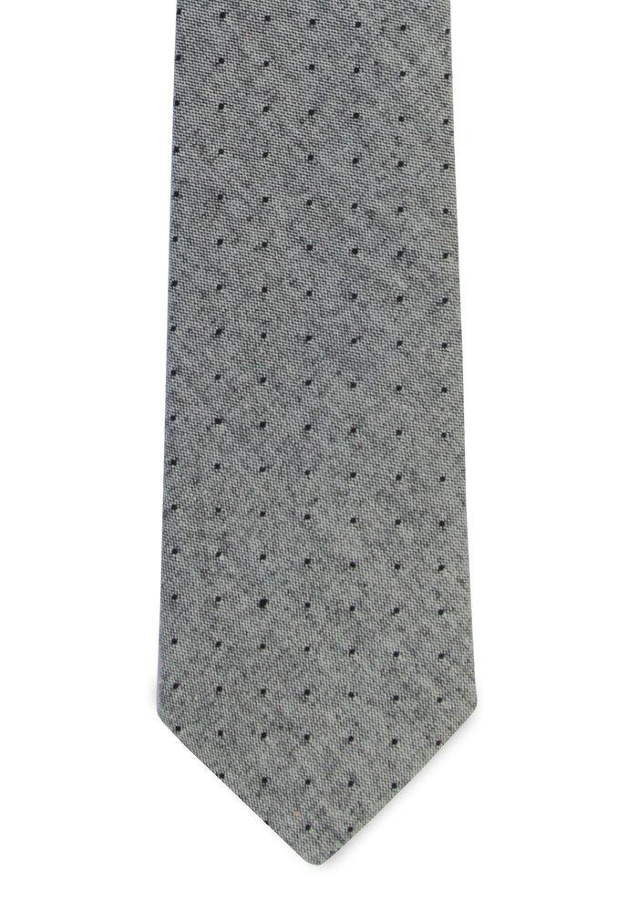 The Irving Gray Chambray Polka Dot Tie