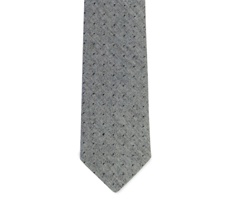 The Irving Gray Chambray Polka Dot Tie