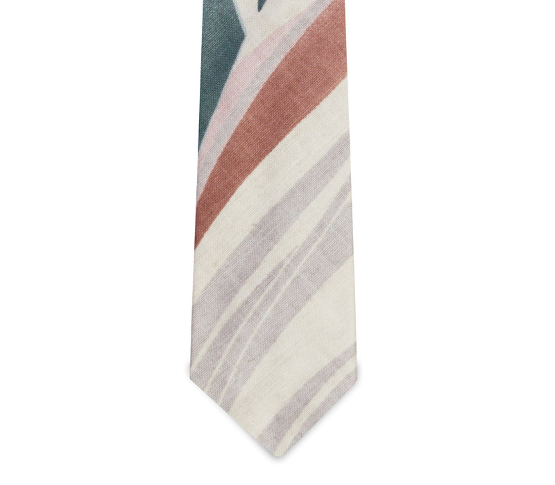The Dylan Off-White Tropical Tie