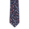 Pocket Square Clothing The Mika Navy Blue Floral Tie