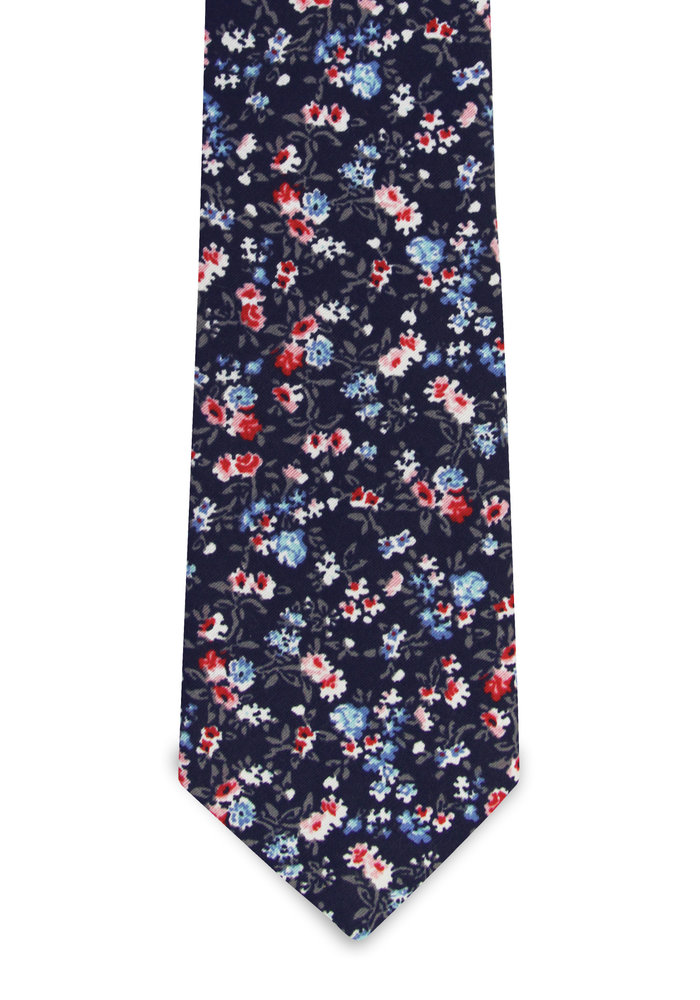 The Mika Navy Blue Floral Tie