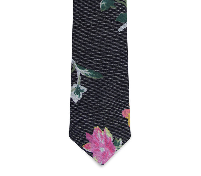 The Imogen Denim Floral Tie