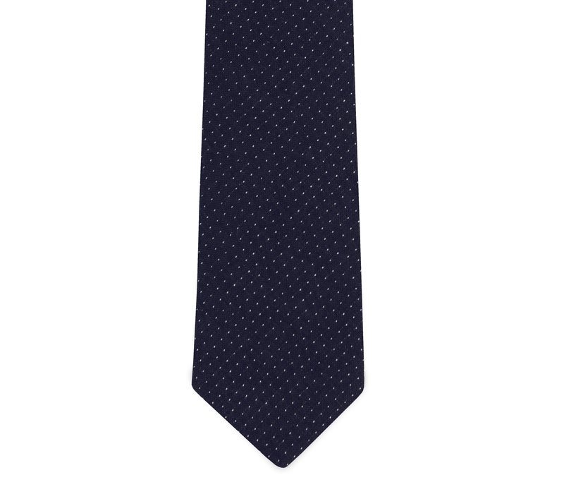 The David Navy Blue Polka Dot Tie