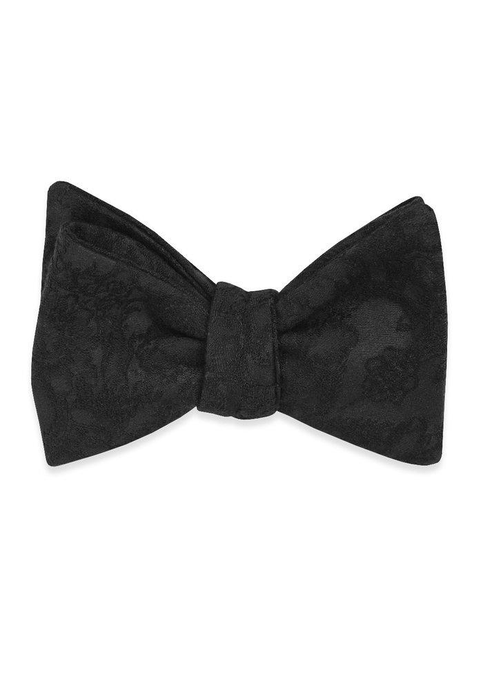 The Rory Black Brocade Bow Tie