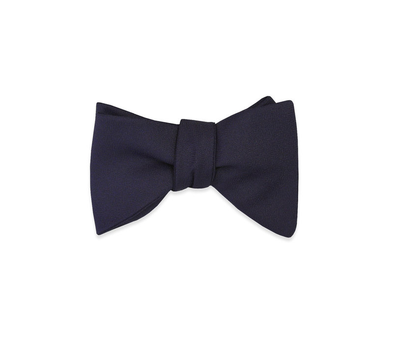 The Gabriel Navy Blue Tear Drop Bow Tie