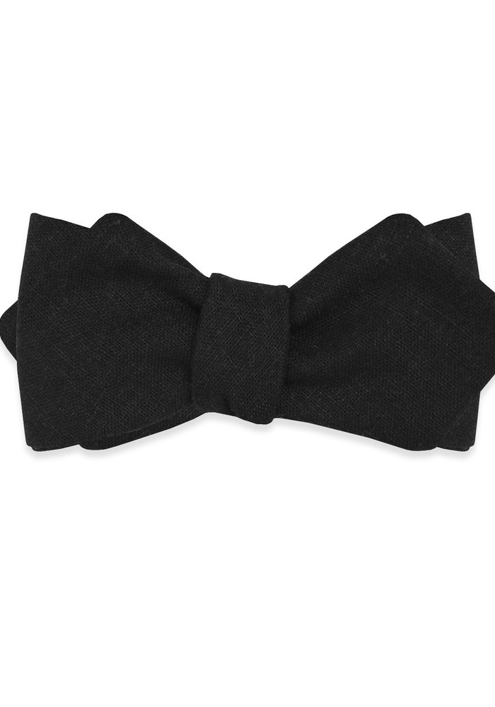 The Blake Black Diamond Point Bow Tie