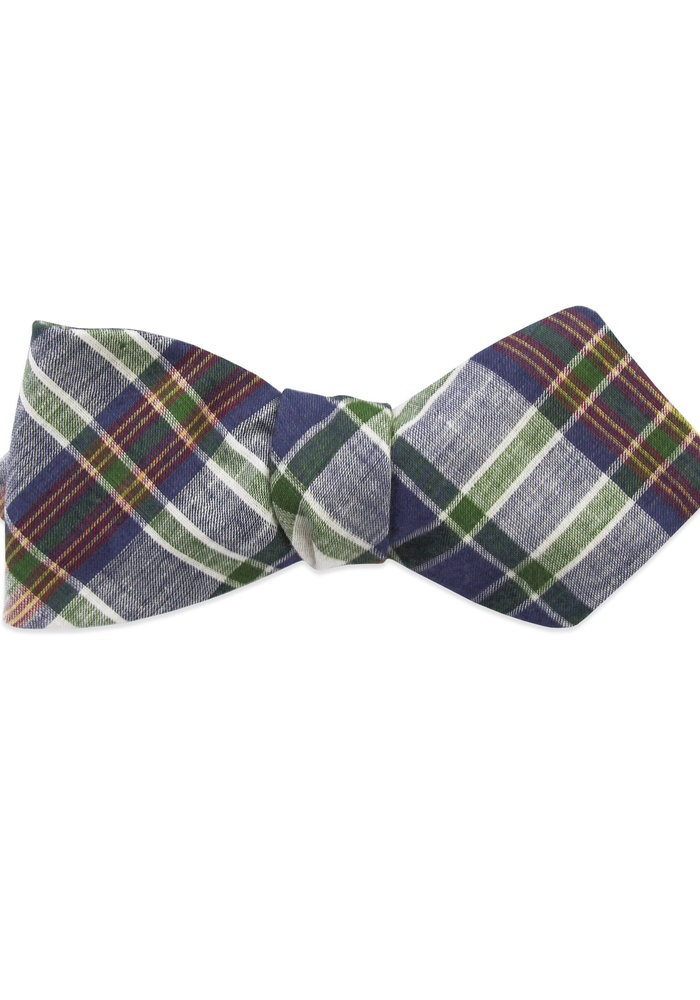 The Bill Plaid Diamond Point Bow Tie
