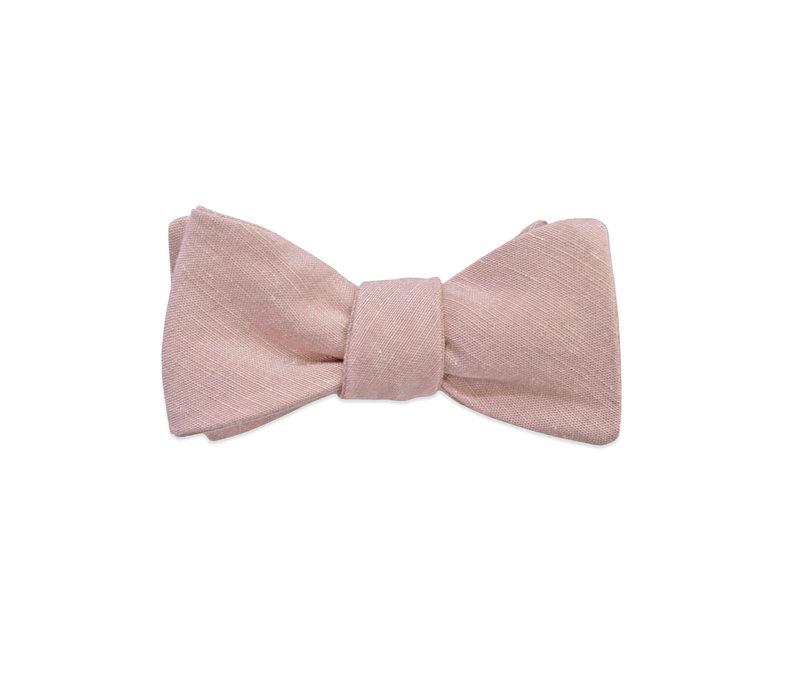 The Eli Linen Mauve Bow Tie