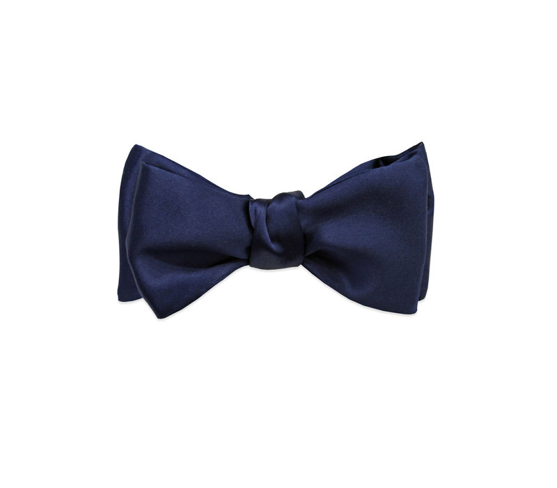 The The Griffin Blue Silk Bow Tie