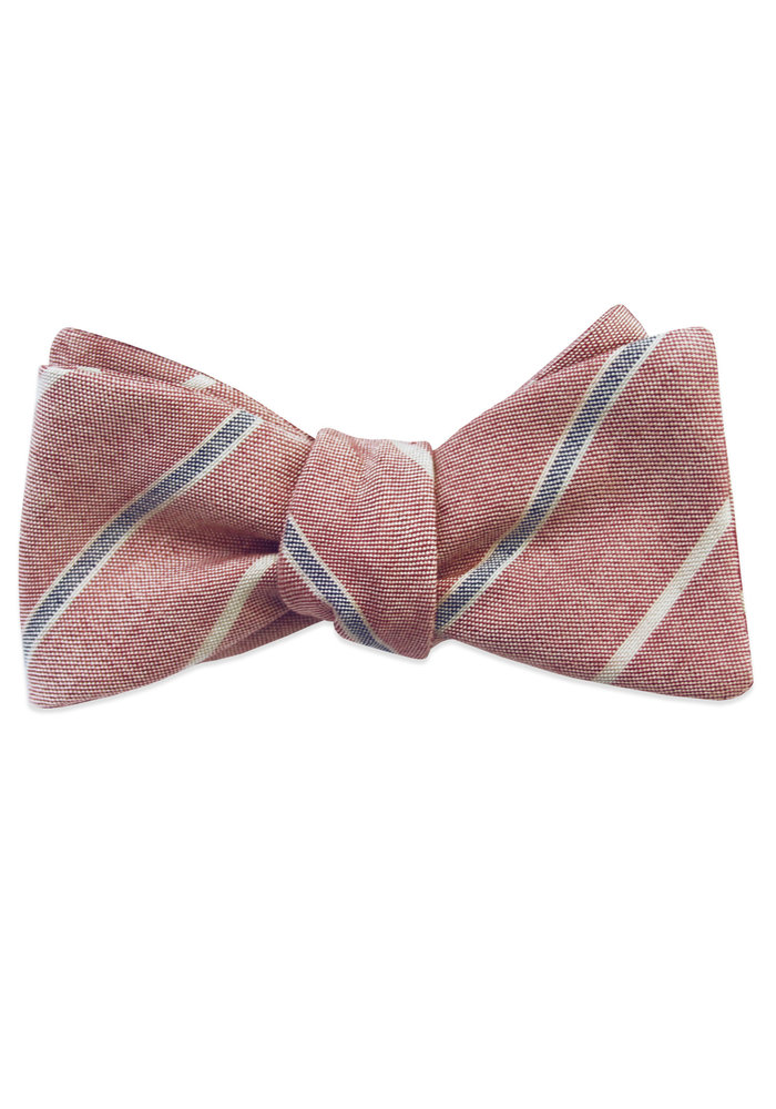 The Jack Red Striped Bow Tie