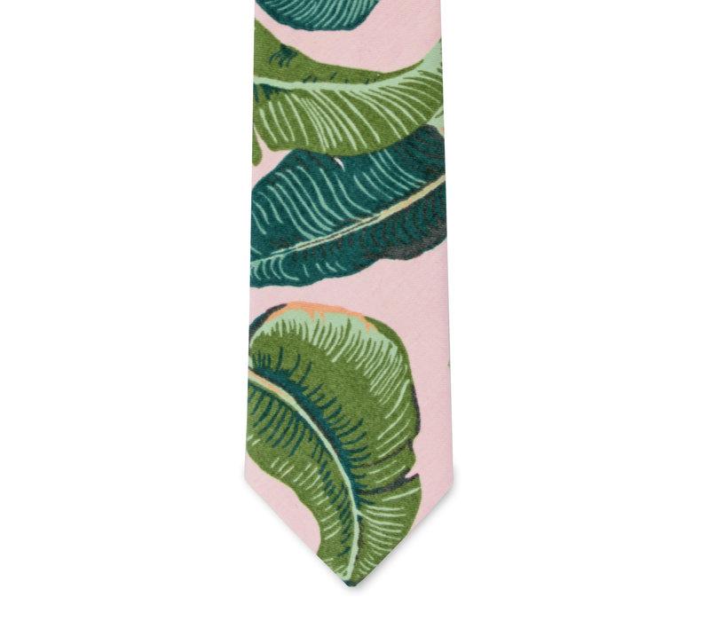 The Bev Pink Tropical Tie