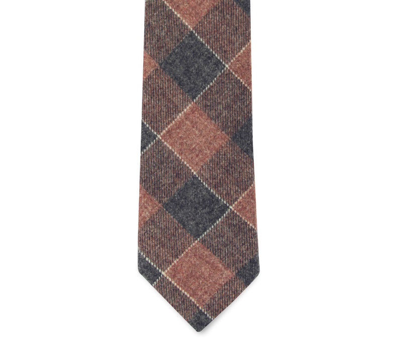 The Ulysses Red and Blue Plaid Tie