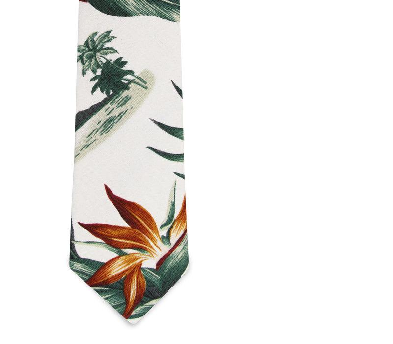 The Hani Birds of Paradise Tropical Print Tie