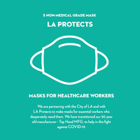 Black LA Protects Mask - Pack of 5