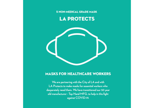 Pocket Square Clothing Pack of 5 Masks - LA Protects
