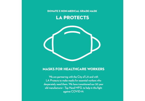 Pocket Square Clothing Donate Pack of 5 Masks - LA Protects