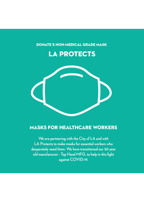 Pocket Square Clothing Donate LA Protects Mask - Pack of 5