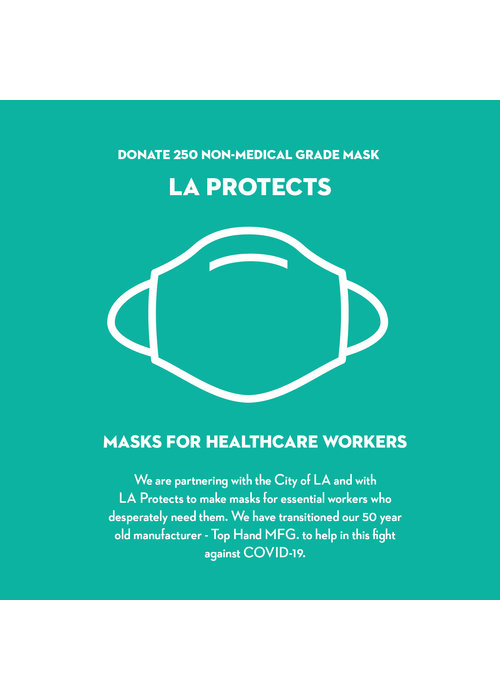 Pocket Square Clothing Donate LA Protects Mask - Pack of 250