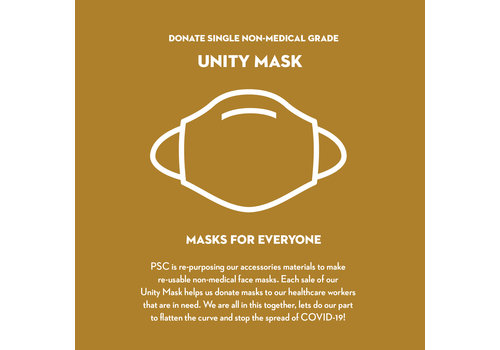 Pocket Square Clothing Donate 2 Unity Masks w/ Filter Pocket
