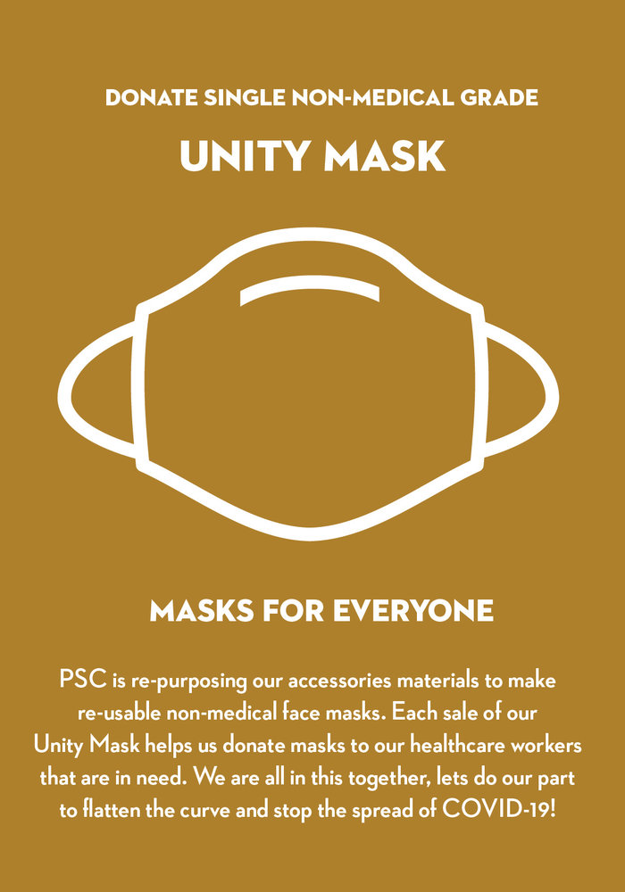 Donate 2 Unity Masks w/ Filter Pocket