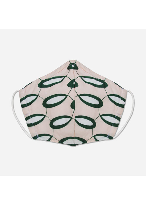 Pocket Square Clothing Unity Mask w/ Filter Pocket (Pink/Green)