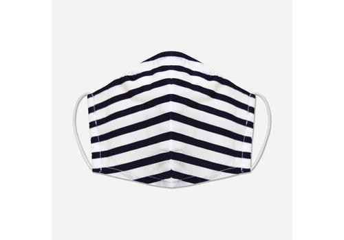 Pocket Square Clothing Unity Mask w/ Filter Pocket (Navy/Stripe)