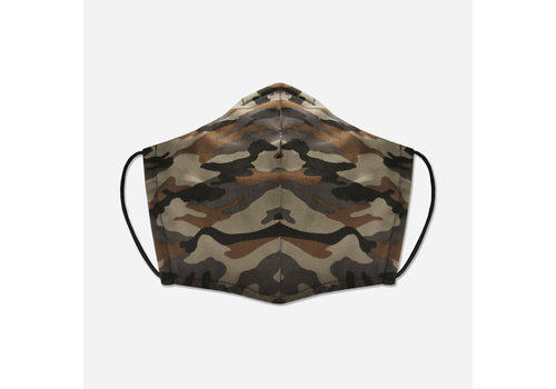 Pocket Square Clothing Unity Mask w/ Filter Pocket (Brown/Camo)
