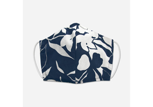 Pocket Square Clothing Unity Mask w/ Filter Pocket (Navy/White)