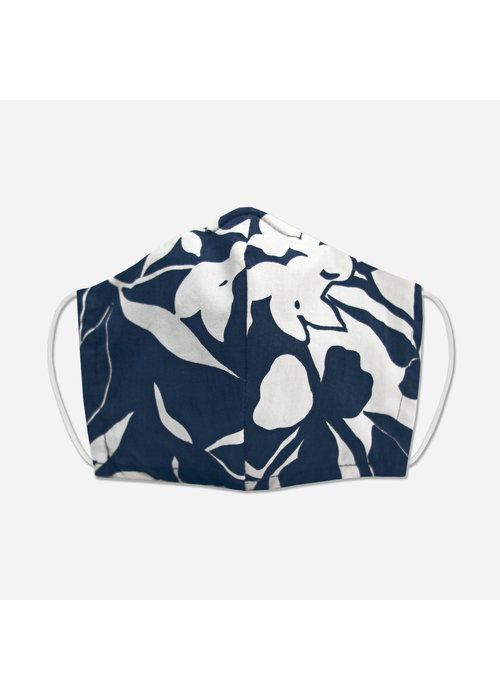 Pocket Square Clothing Unity Mask w/ Filter Pocket (Navy/White)