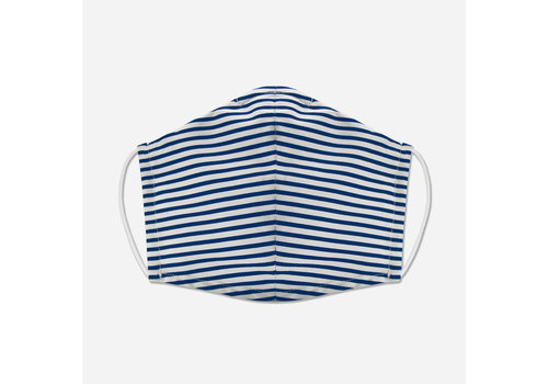 Pocket Square Clothing Unity Mask w/ Filter Pocket (Blue/Stripe)