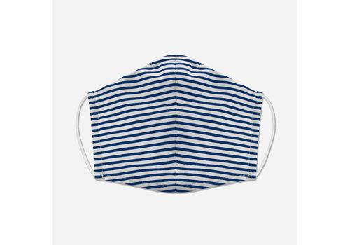 Pocket Square Clothing Unity Mask w/ Filter Pocket (Blue/Stripe)