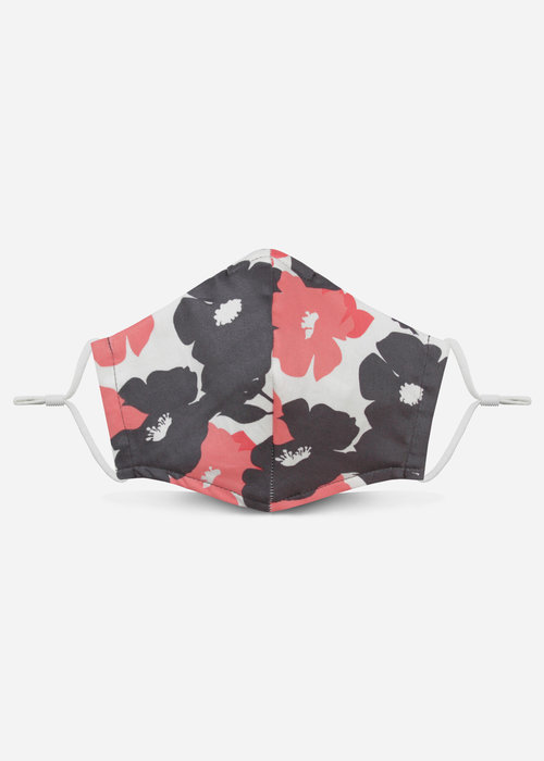 Pocket Square Clothing Unity Mask 2.0 w/ Filter Pocket (Gray/Floral)