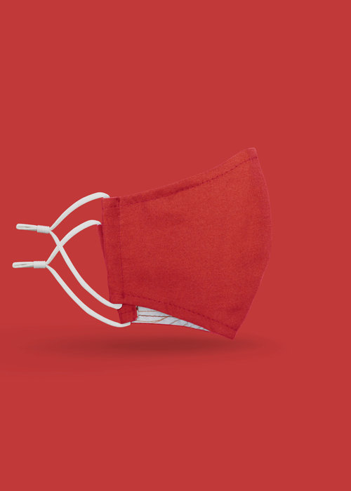 Pocket Square Clothing Children's Unity Mask 2.0 w/ Filter Pocket (Red)